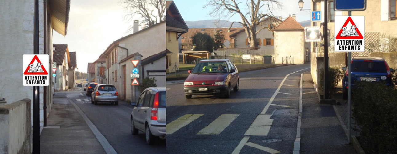 Etude de signalétique extérieure pour le village de Chancy