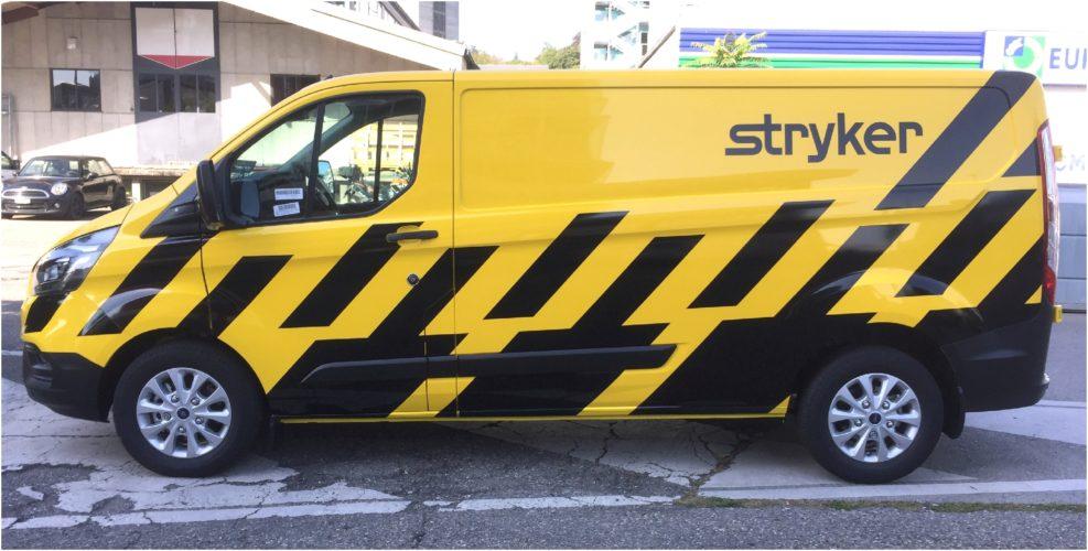 Publicité sur véhicule FORD CUSTOM. Projet visuel - Production - Pose par notre atelier.
